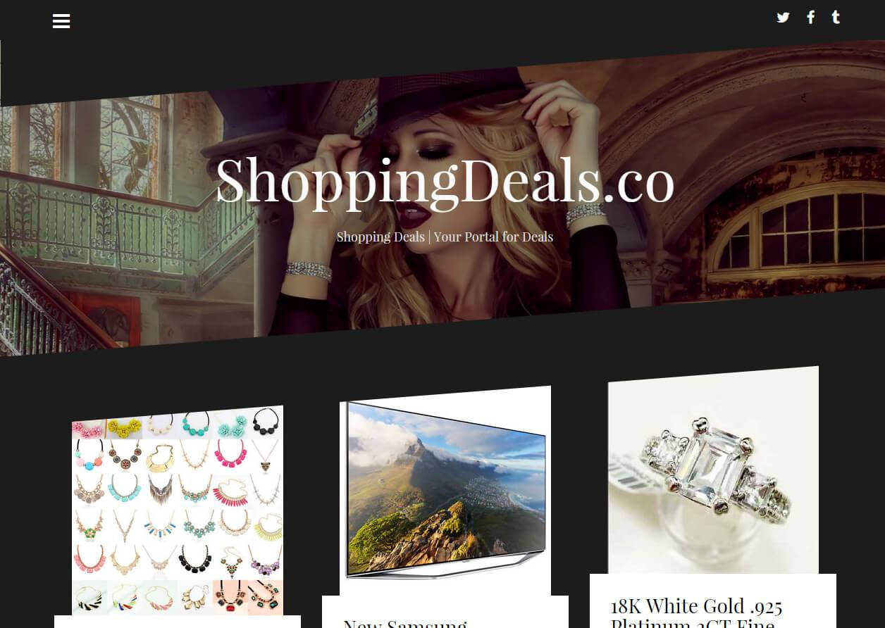 ShoppingDeals.co | Developed by JTag Internet Design
