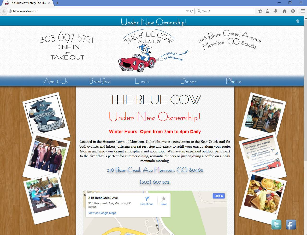The Cow Eatery | Developed by JTag Internet Design