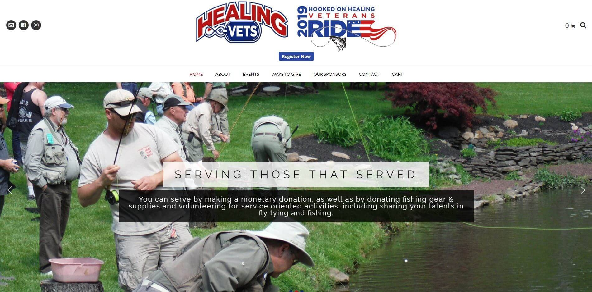 Healing Vets - healingvets.org - Website Developed by JTag Internet Design