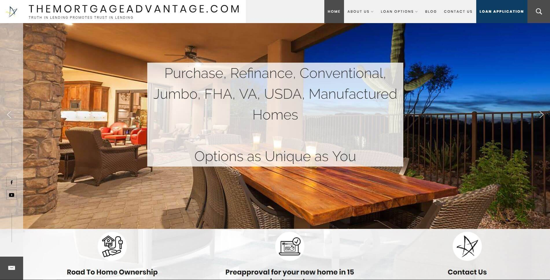 The Mortgage Advantage | Developed by JTag Internet Design