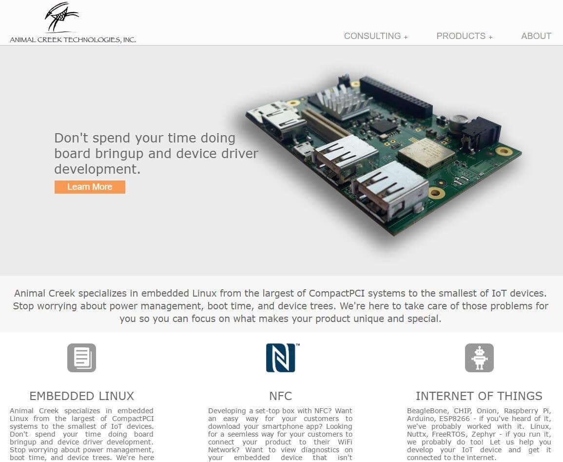 Animal Creek Technologies | Developed by JTag Internet Design