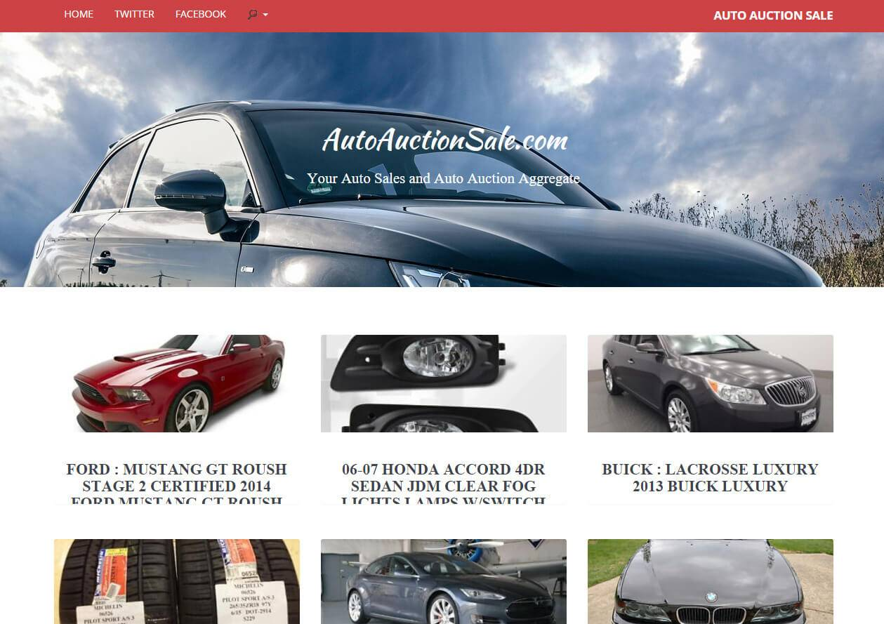 AutoAuctionSale.com | Developed by JTag Internet Design